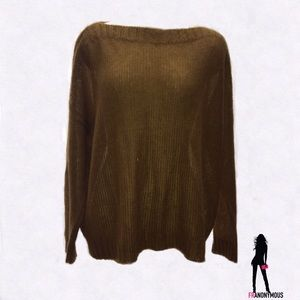 Eileen Fisher Sweaters - Eileen Fisher Bateau Neck Gold Mohair Sweater XL