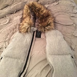 Gap Puffy Vest with Fur Hood