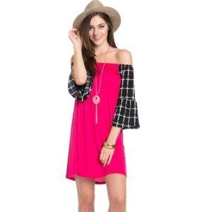 ❤️ RARE SEXY off shoulder crosses Boho dress