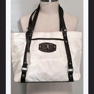 Nicole Miller Handbags - Nicole Miller White/Black Casual Tote Bag