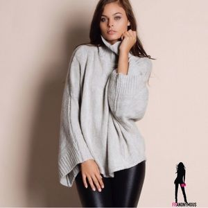 Bare Anthology Sweaters - Grey Loose Oversized Turtleneck sweater M/L