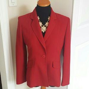 Kasper Jackets & Blazers - Vintage Lightweight Bright Red Blazer