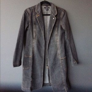 Norma Kamali Jackets & Blazers - Norma Kamali denim long jacket
