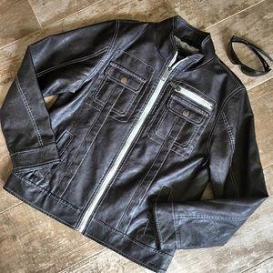 Urban Republic Other - Urban Republic Boy's Faux Leather Jacket Sz 14/16