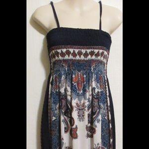 Christina Love Dresses & Skirts - Maxi Dress Sz S Beach Party Sundress Navy Blue
