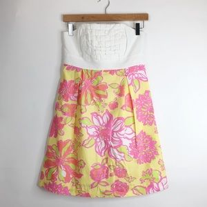 Lilly Pulitzer Dresses & Skirts - Lilly Pulitzer Strapless Dress EUC Size 2