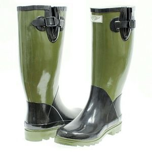 Women Tall Rain boots, #1500, Army Green