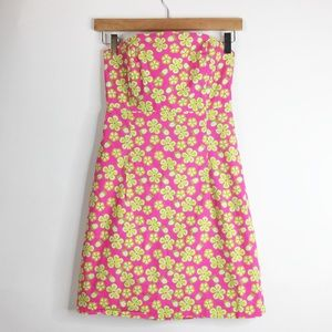 Lilly Pulitzer Dresses & Skirts - Lilly Pulitzer Floral Print Strapless Dress Size 2