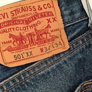 Vintage Jeans - Cute Vintage Boyfriend Jeans Levis 501's