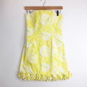 Lilly Pulitzer Dresses & Skirts - Lilly Pulitzer Yellow Print Dress Size 0. EUC