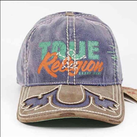 New True Religion Unisex Purple Fitted Hat Cap cd879b9e4b06