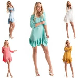 Fashionomics Dresses & Skirts - NWT Ruffle tunic dress AVAILABLE IN ALL SIZES
