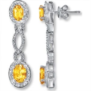 Kay Jewelers Jewelry - Diamond accent citrine drop earrings