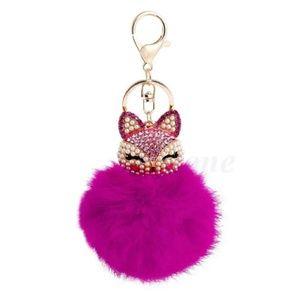 Foxy Fur Ball Pendant Key Chain