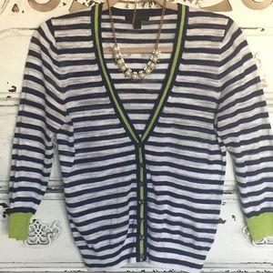 J. Crew Sweaters - J.Crew lightweight spring preppy striped cardigan