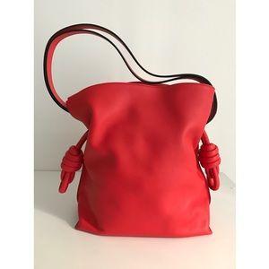 Loewe Handbags - NWT Loewe Flamenco Knot bag Small in Red/Coral