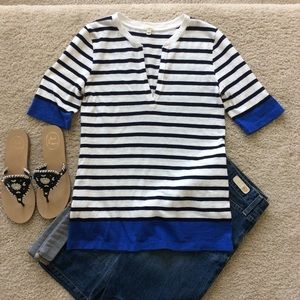 J. Crew Colorblock Stripe Henley