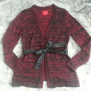 Marciso Rodriguez for Design Nation Sweaters - Red & Black Cardigan