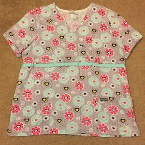 peaches Other - Mock wrap scrub top from peaches brand. Size large