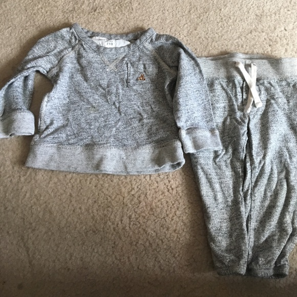 NWT babyGap Girls Marled Gray Sweatshirt Dress Size 6-12 M /& 18-24 M