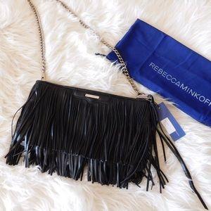 Rebecca Minkoff Handbags - NWT Rebecca Minkoff Finn Large Fringe Clutch Bag