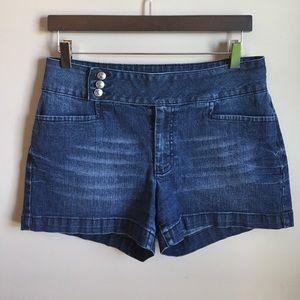 Cato Pants - Wide Waistband Denim Short