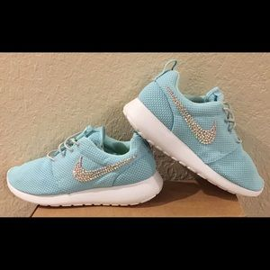 Nike Roshe Run - Tiffany Blue & Bedazzled Swoosh