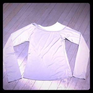 Marika Tops - ICON TMG long sleeve slate blue long sleeve shirt