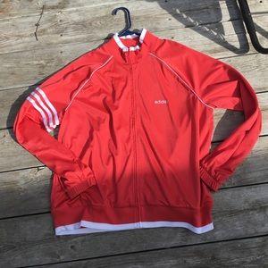 Adidas Red Vintage Track Jacket XL Women's EUC
