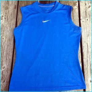 Nike Blue Muscle Tee! EUC!