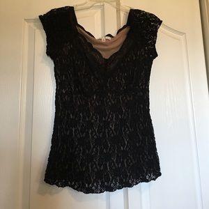 CAbi lace black top size L
