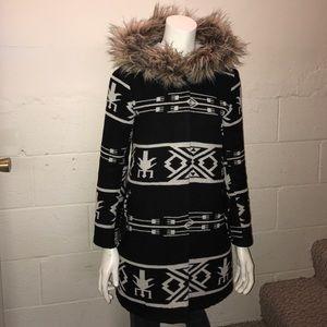 BB Dakota Aztec Print Coat