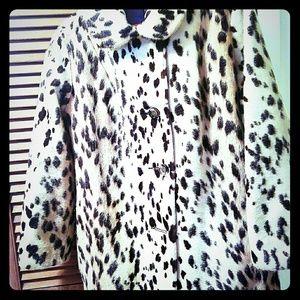 Cheetah fur coat!