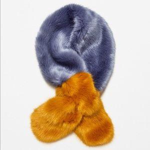 Zara faux fur stole one size NWT