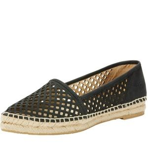 Frye Perforated Leather Espadrille Flats
