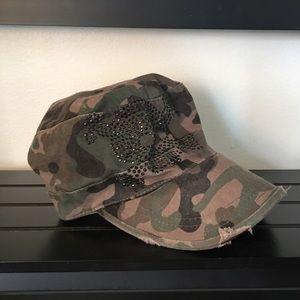 Army Camo Skull Hat
