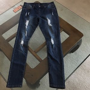 Super Skinny CLEARANCE distressed jeans