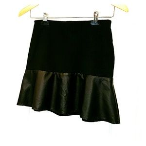 Sally Miller Dresses & Skirts - Sally Miller blk knit and faux leather mini NWOT