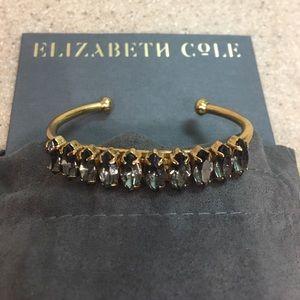 NWOT Elizabeth Cole brass and smoke bracelet