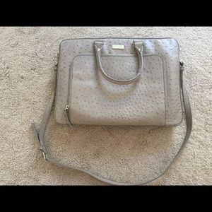 Kate Spade Janine Taupe Laptop Tote Bag