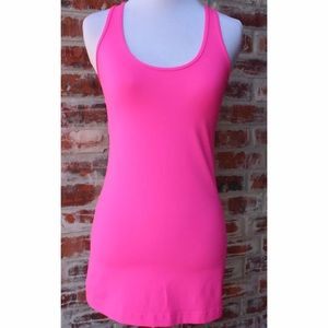 lululemon athletica Tops - Lululemon Bright Pink Racerback Tank Top S/M
