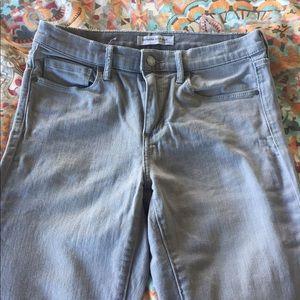 Banana Republic Skinny Ankle Jeans- Light Gray- 27