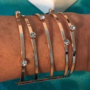 Jewelry - ROSE GOLD BANGLE BRACELET W/DIAMONDS