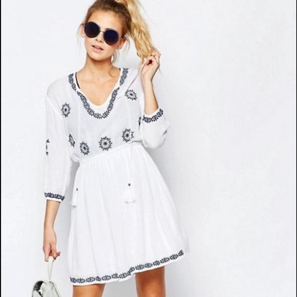 810c61972af Boohoo Dresses   Skirts - Embroidered Swing Dress - Graduation Spring Summer