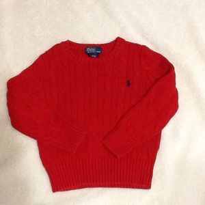 Polo by Ralph Lauren Other - Ralph Lauren 3/3T Red Cableknit Sweater
