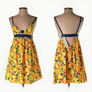 NWT LF Neon Yellow Aztec Cutout Sun Dress