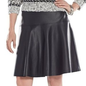 Chaps Dresses & Skirts - Chaps Faux Leather Skater Skirt