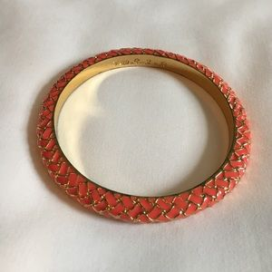 Lilly Pulitzer Jewelry - Lilly Pulitzer enamel bangle in coral and gold