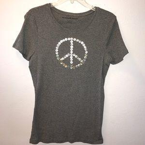 Norma Kamali Tops - Pearled Beaded Peace Sign