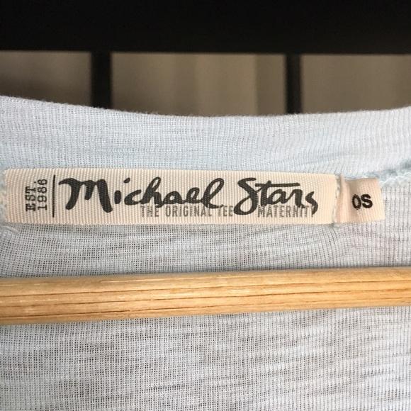 Michael Stars Tops - Michael Stars The Original Tee Maternity icy blue